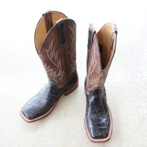NWT Horse Power Cowboy Boots - Chocolate Caiman